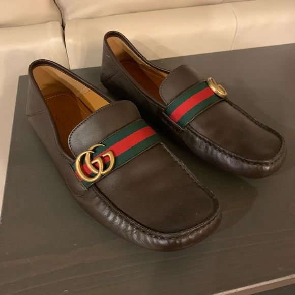 6943328c9 Gucci Shoes | Mens Leather Driver Loafer Brown | Poshmark